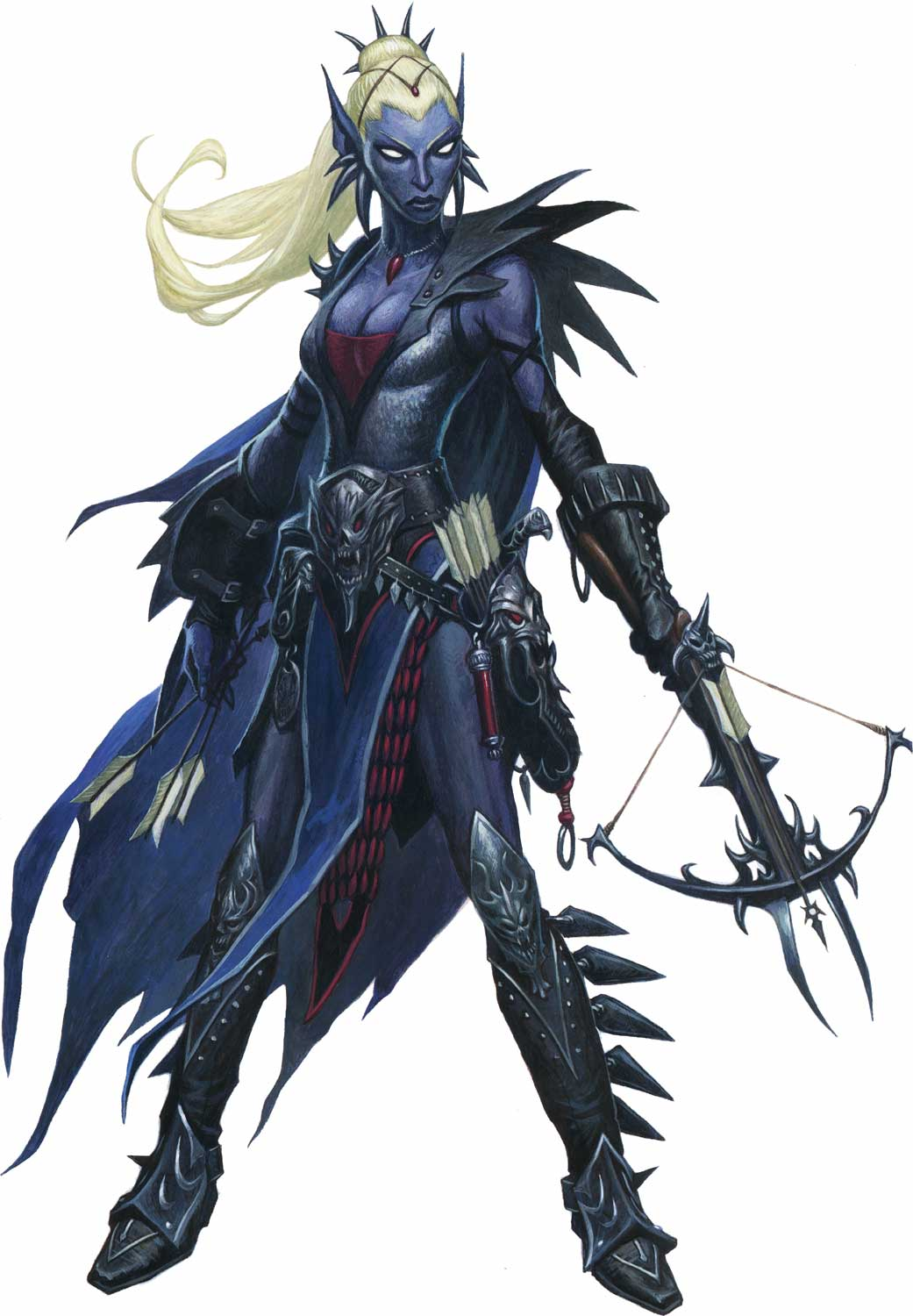 d&d dark elf Drow, da Pathfinder Pathfinder Roleplaying Game, Core Rulebook (2009) © Paizo Publishing, Wizards of the Coast & Hasbro
